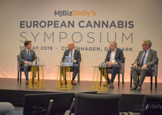 A panel on the Future of Cannabis in Europe, with John Charles Ellul, Adviser of the Maltese government, Mads Ulrik Pedersen, President with Aurora Nordic Cannabis and Lars Thomassen, Business Development Director with Nordic Spectrum Cannabis.