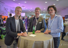 Peter Ringeling (Spark Holland), Mark Adriaenssens (Pharma Applications) & Gilles Gelissen (Canna)
