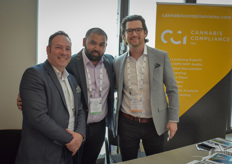 Edward Collins & Brennan Kerr with CCI visited by Sal Hoble (middle) London CBD Group