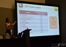 A speaker during the hemp workshop discussing the top companies within the hemp industry space