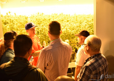 Visitors were given the opportunity to visit the grow room of the Purple Lotus dispensary