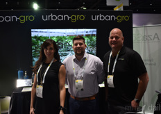 Urban-Gro had many booths during the fair. From the left: Barbara Jacobs, Lucas Targos, and Stan Wagner