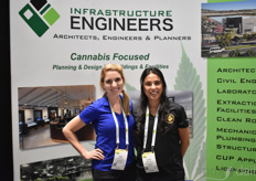 Ashlie Bonser and Cynthia Guerrero with Infrastructure Engineers