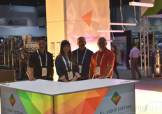 PL. Light Systems was at the show too. From the left: Steve Szewczyk, Megan Foley, Eric Moody, and Todd Philips