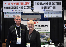 Dave Heffner and Heather Gustin with AiroClean420