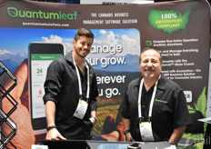 Jonhatan Jeffe and Barry Kripitzer with Quantum Leaf Solutions