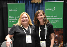 From the left: Kelley Nicholson and Lindsay Harris with Autogrow America