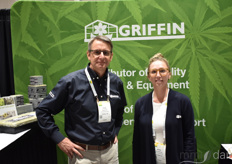 Gregg Urban and Jessica Robinson with Griffin Greenhouse Supplies