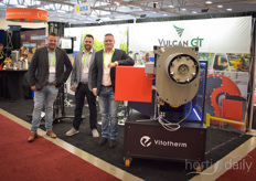 Patrick Voortman, Frank Ketler and Ed Roeleveld with Vulcan & Vitotherm.