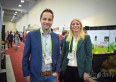 Thorben Looije & Jessica Zuidgeest, Valto BV. They were happy to announce the allowance of their vaccination program into more countries this week, including UK & France. Read all about it here: https://www.hortidaily.com/article/9152159/protecting-tomato-plants-against-pepino-mosaic-virus/