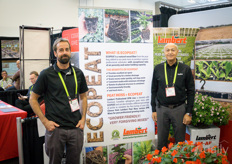 Frederic Gagnon & Michel Morin with Lambert Peat Moss. The Ecopeat is a substrate with added natural wood fiber to provide better quality, air porosity and water holding capacity.
