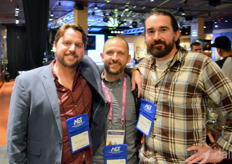 From the left: Brett Chemiak and Michael Bateman with Grodan, and Brent van Zile with Get-a-Grower