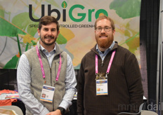 Matt Bergren and Damon Hebert with UbiGro