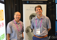 Brian Quock and Bryan Huber with CleanSpark