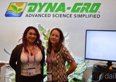 Griselda Reyes and Rachael Lansdown with Dyna-Gro