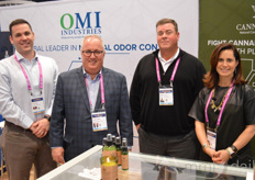 Tim Coffery, Bob Dunklau, Greg Gandy, and Melinda Adamec with OMI Industries