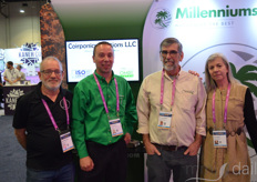From the left: Paul Raymond with Back Room Grow; David Wilding, Andrew Peirce, and Carol Perice with MilleniumSoil Coir
