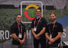 Ron Speights, Alex Pappas, and Andrew Engelbert with Grow-Tech Systems