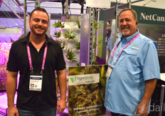 Brandon Hutson and Doug Fyvolent with Violet-gro