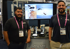 Ulises Martinez and Ryan Rolleri with Dino-lite Scopes