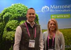 Dr. Matt Brecht and Lisa Boneyre with Marrone Bio Innovations