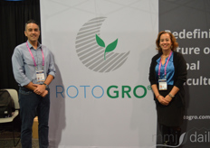 Jordan Carlin and Christina Montgomery with RotoGro