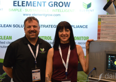 Jason DuBose and Whitney Schroeder with Element Grow