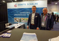 Wim van Weele & Carlos Calixto with Debets Schalke. The company is currently working on a massive greenhouse project in Saudi Arabia: https://www.hortidaily.com/article/9172541/progression-of-44-hectare-greenhouse-project-in-saudi-arabia/