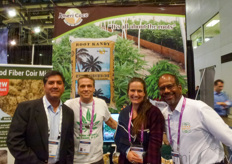 Amit Agarwal, Andrew Pidgeon & Sam Ahilan with FibreDust visited by Arlette with HortiDaily