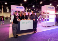 The team with Signify / Philips was present for the first time at the show and seeing the many people visiting their booth it was a success.