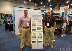 Bill Riffey & Eric Prechtl showing the Smithers-Oasis growing media solutions