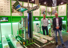 Dennis van Gaalen & Renko Schuil showing various cannabis automation & growing solutions.