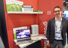 Niko Kurumaa with Netled showed the capabilities of vertical farming system Vera for the cloning stage of cannabis