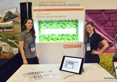 Claudia Zehnpfennig & Kelcey Trecartin with Osram, showing their research light solutions