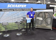 Adam Orcutt with Shaeffer, showing one of their ventilation solutions