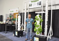 Nick Graber with Micro Farms, offering Verti Tube: a vertical growing solutions both to professional and home growers