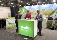 The team with Grodan, promoting both rockwool substrate and Grosens. In the photo Austin Smith, Don Courtemanche & Shawn Misener