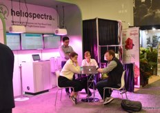 Many conversations about LED at the Heliospectra booth as well
