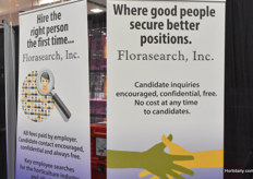 Searching for the right persons on the exhibition was the team with Florasearch Inc.